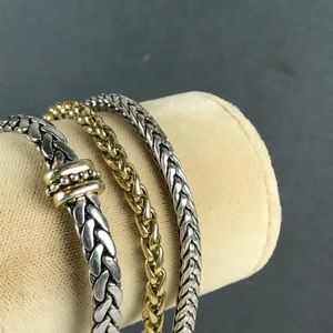 Vintage Gold and silver Link bracelets
